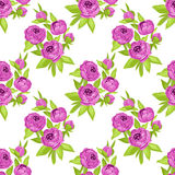 Floral seamless pattern in purple flowers for textile print, book cover, wallpaper, manufacturing, wrap, scrapbooking Stock Photo