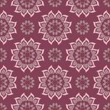 Floral seamless pattern. Purple red background with flower design elements. For wallpapers, textile and fabrics Royalty Free Stock Images