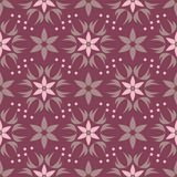 Floral seamless pattern. Purple red background with flower design elements. For wallpapers, textile and fabrics Stock Photos