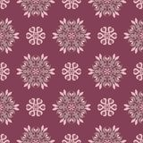 Floral seamless pattern. Purple red background with flower design elements. For wallpapers, textile and fabrics Royalty Free Stock Photos