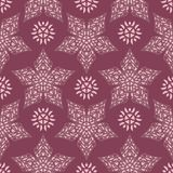 Floral seamless pattern. Purple red background with flower design elements. For wallpapers, textile and fabrics Royalty Free Stock Photography