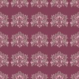 Floral seamless pattern. Purple red background with flower design elements. For wallpapers, textile and fabrics Stock Photo