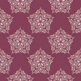 Floral seamless pattern. Purple red background with flower design elements. For wallpapers, textile and fabrics Royalty Free Stock Photo
