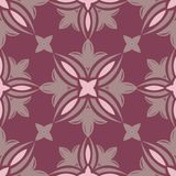 Floral seamless pattern. Purple red background with flower design elements. For wallpapers, textile and fabrics Royalty Free Stock Image