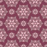 Floral seamless pattern. Purple red background with flower design elements. For wallpapers, textile and fabrics royalty free illustration