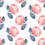 Floral seamless pattern with red flowers 06 stock illustration