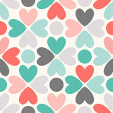 Floral  seamless pattern. Red, green, black and Royalty Free Stock Photo