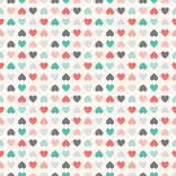 Floral  seamless pattern. Red, green, black and Royalty Free Stock Image