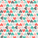 Floral  seamless pattern. Red, green, black and Stock Photo