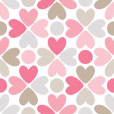 Floral  seamless pattern. Red, pink, gray, brown Stock Photos