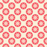 Floral  seamless pattern. Red and white shabby Royalty Free Stock Photography