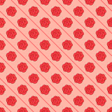 Floral seamless pattern with repeating rose Stock Photo