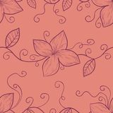 Floral seamless pattern in retro colors Stock Image