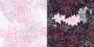 Floral seamless pattern in retro style Stock Photography
