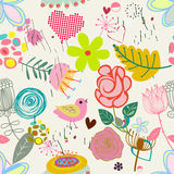 Floral seamless pattern in retro style Royalty Free Stock Photo