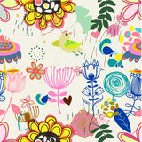 Floral seamless pattern in retro style Royalty Free Stock Photos