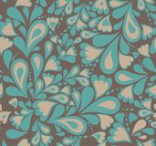 Floral seamless pattern in retro style. Vector Stock Image