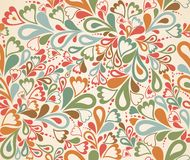 Floral seamless pattern in retro style. Vector Royalty Free Stock Photography