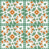 Floral seamless pattern in retro style on white background. Floral seamless pattern in retro style, cartoon cute flowers onwhite background Royalty Free Stock Image