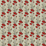 Floral seamless pattern with rose Stock Photos