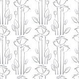 Floral seamless pattern with rose Stock Photo