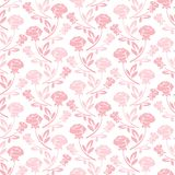 Floral seamless pattern with rose in pastel tones Royalty Free Stock Photography