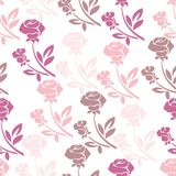 Floral seamless pattern with rose in pastel tones Royalty Free Stock Photos