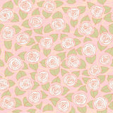 Floral seamless pattern with roses Stock Photography