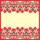 Floral seamless pattern (roses) Stock Photos