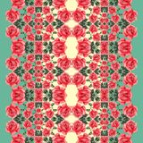 Floral seamless pattern (roses) Royalty Free Stock Photo