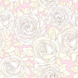 Floral seamless pattern. Roses and peonies Royalty Free Stock Image