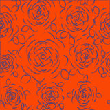 Floral seamless pattern with roses. Vector  hand drawn . Floral seamless pattern with roses. Vector roses hand drawn pattern Stock Photography