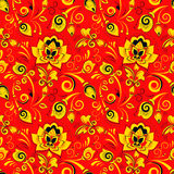 Floral seamless pattern in russian style khokhloma Stock Photography