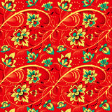Floral seamless pattern in russian tradition style Stock Photo