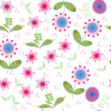 Floral seamless pattern. Seamless pattern can be u Stock Images