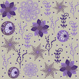 Floral seamless pattern and seamless pattern in sw Royalty Free Stock Photo