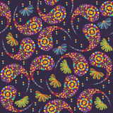 Floral seamless pattern and seamless pattern in sw Royalty Free Stock Photography