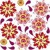 Floral seamless pattern and seamless pattern in swatch menu, vec Royalty Free Stock Photography