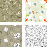 Floral Seamless Pattern. Set 4 Stock Photos