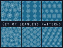 Floral seamless pattern set. For wallpaper, bed linen, tiles, fabrics, backgrounds. Royalty Free Stock Images