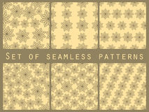 Floral seamless pattern set. For wallpaper, bed linen, tiles, fabrics, backgrounds. Royalty Free Stock Photography
