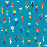 Floral seamless pattern with simple design Stock Images