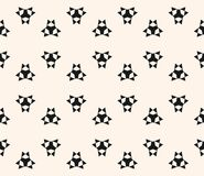 Floral seamless pattern with simple geometric figures, triangles. Vector seamless pattern with simple geometric figures, triangles, sharp shapes. Abstract Royalty Free Stock Image