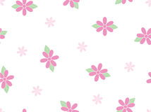 Floral seamless pattern. Simple vector pink floral seamless pattern Royalty Free Stock Photos