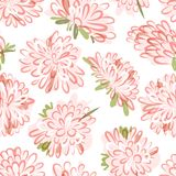 Floral seamless pattern, sketch for your design Royalty Free Stock Image