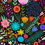 Floral seamless pattern, sketch for your design Stock Images