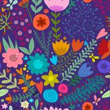 Floral seamless pattern, sketch for your design Royalty Free Stock Images