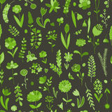 Floral seamless pattern, sketch for your design Stock Photography