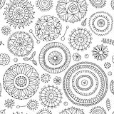 Floral seamless pattern, sketch for your design Stock Photo