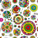 Floral seamless pattern, sketch for your design Royalty Free Stock Photography